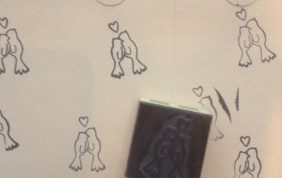 klein stempeltje voor trouwkaart