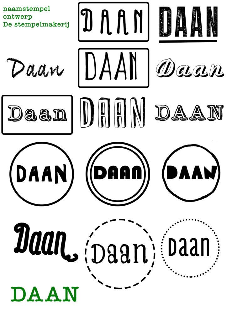 naamstempel laten ontwerpen