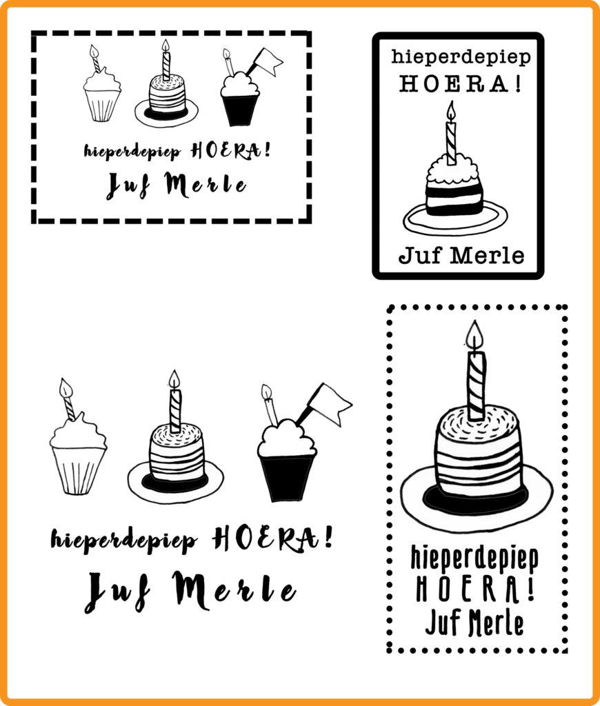 stempel voor de juf verjaardag