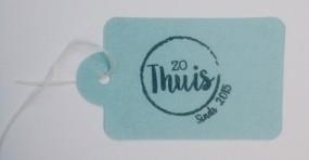 mooie logostempel op een label.