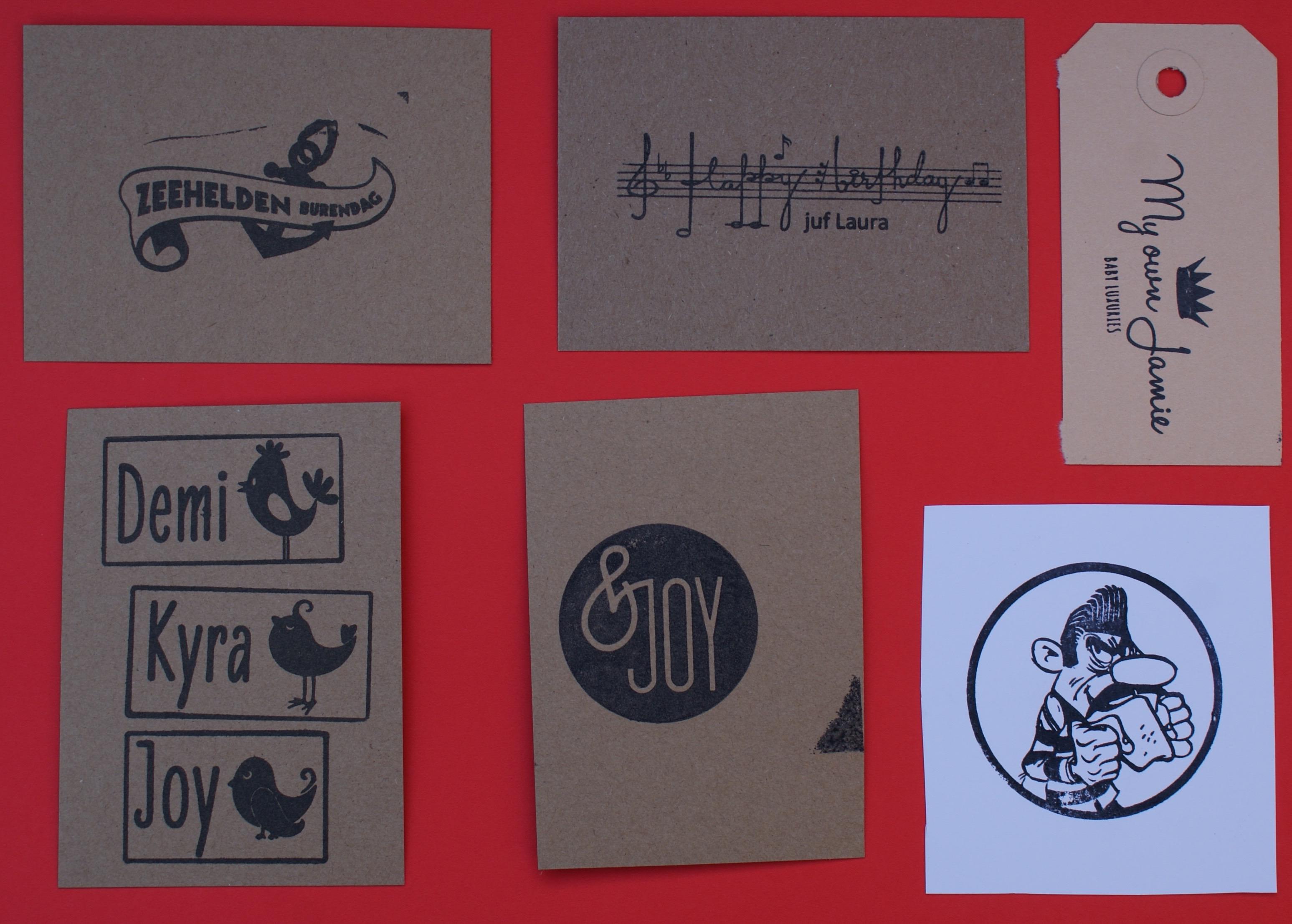verschillende logo stempels
