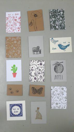 kaartenset stempel lente