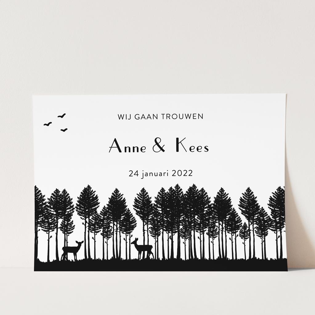 stempel trouwkaart