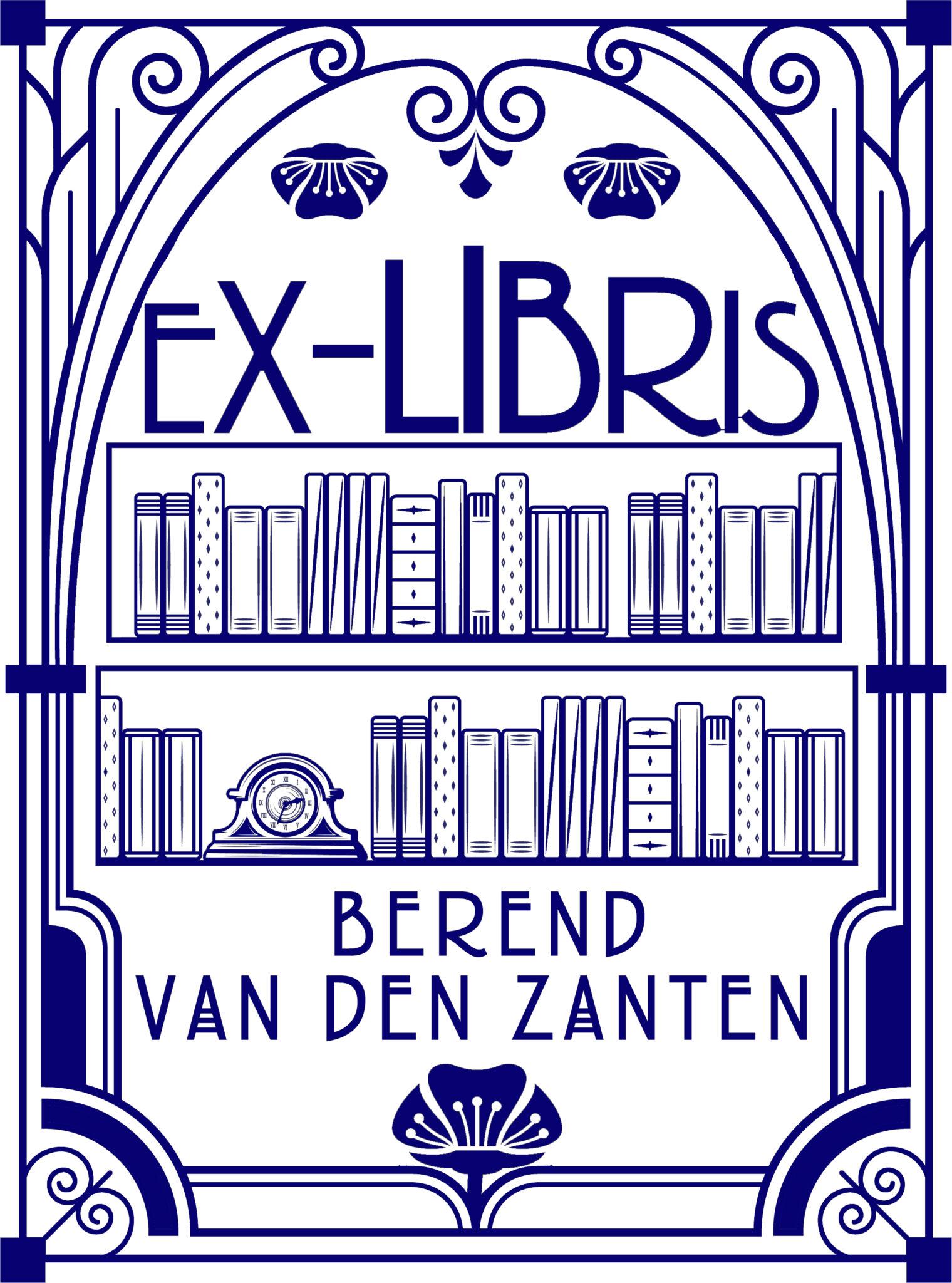 Ex libris stempel jugendstil art nouveau bauhaus